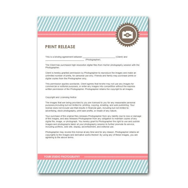 Print release law | Photography Business | Pinterest | Photography ...