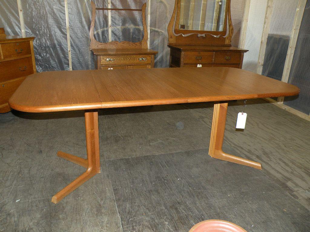 Danish Mid Century Modern Furniture Gudme Mobelfabrik Solid Teak Dining Table