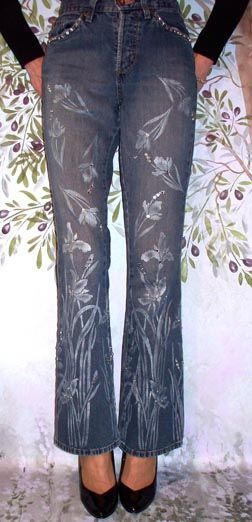 Attitude Fashion Stencils. Dress up an old pair of jeans or...?