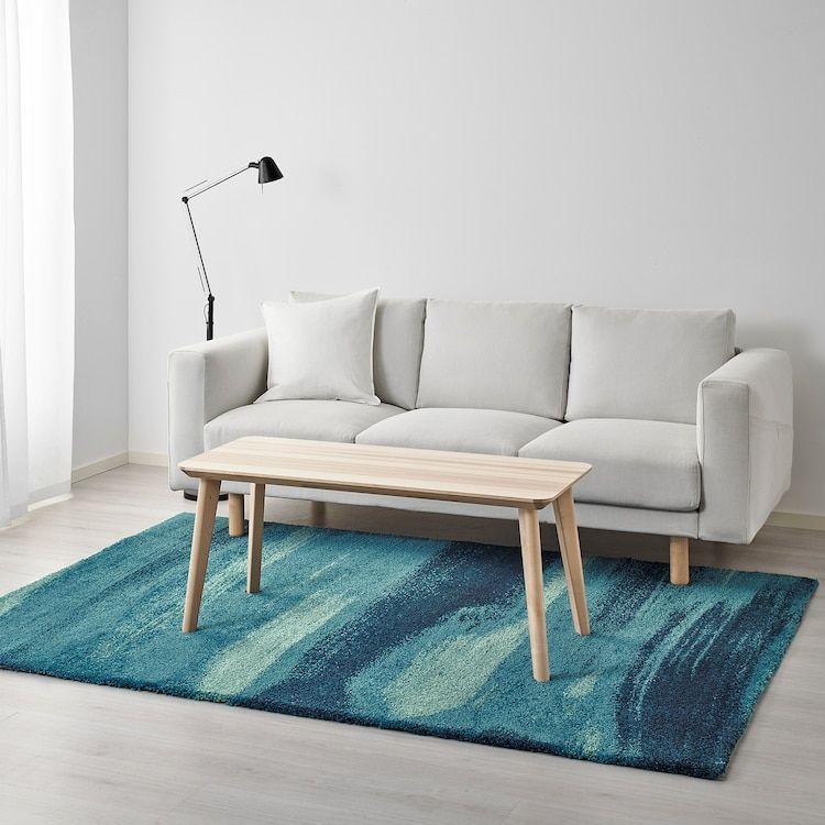 sonderod tapis poils hauts bleu