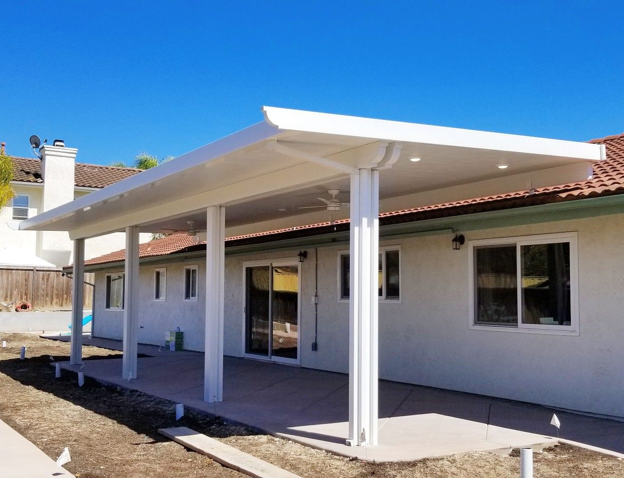 roof mounted solid patio cover
