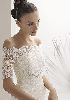 Lace Off The Shoulder Wedding Dress spatrick1