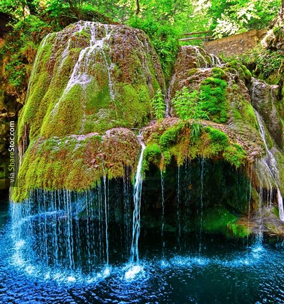 Top Places To Visit Romania: Amazing Bigar Waterfall In Romania - Sharestoc