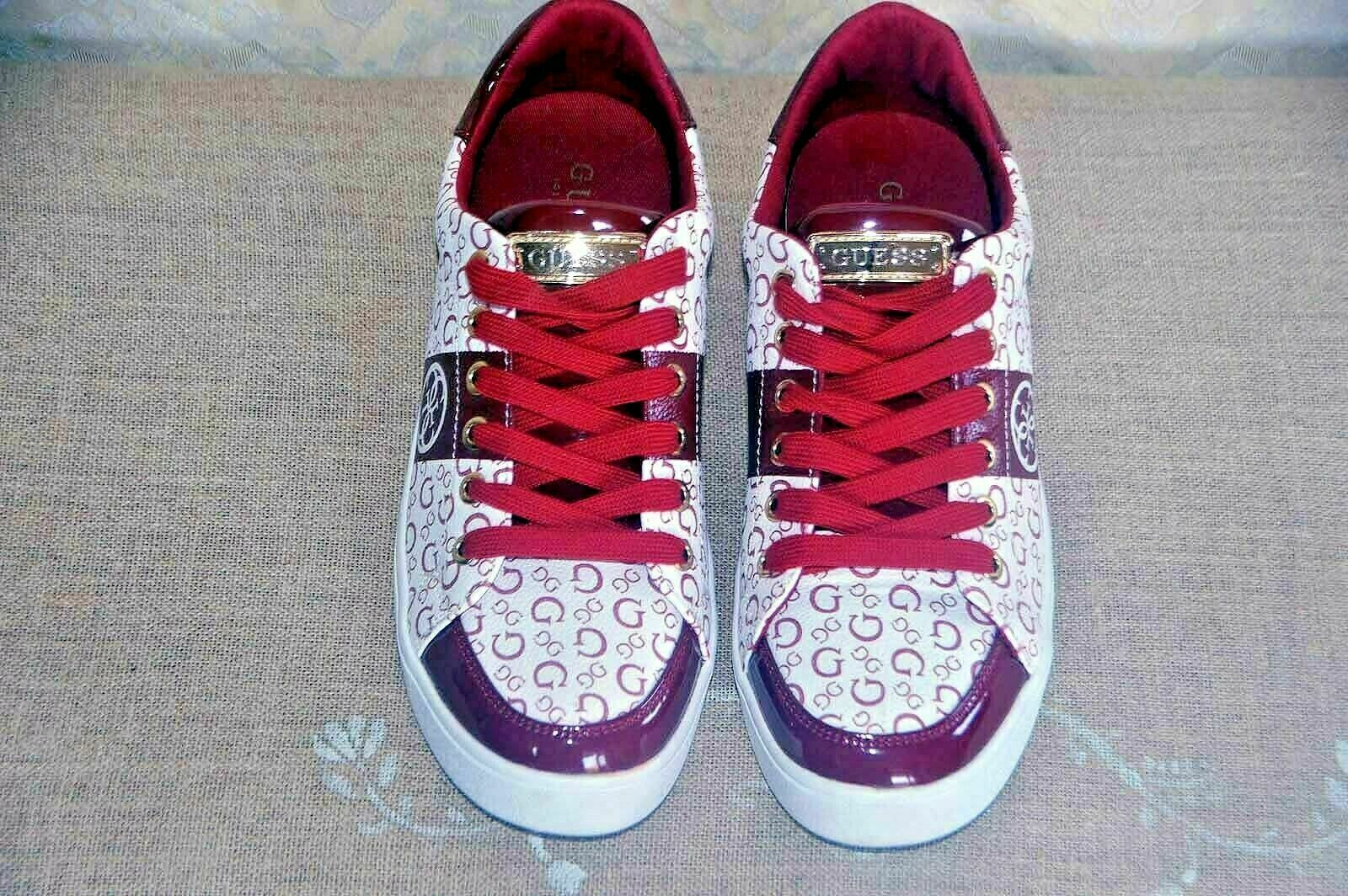 GUESS TRAINERS SNEAKERS NEW WHITE RED
