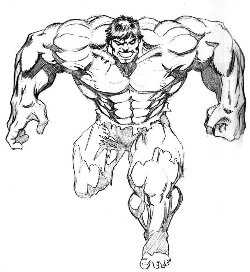 Hulk drawings in pencil images pictures becuo