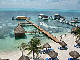 This is Isla Mujeres Palace resorts, an island off of Mexico in the Caribbean.  My sister in law wants us to go next yr. Yes please