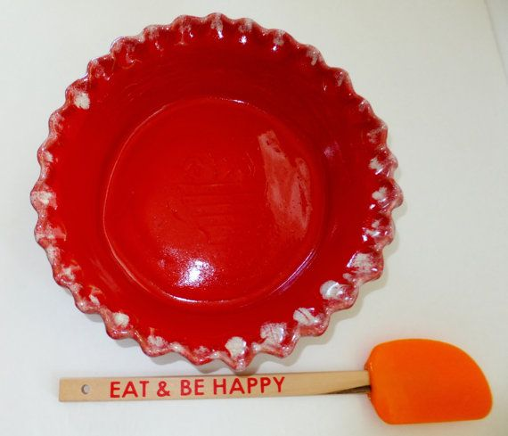 Hey, I found this really awesome Etsy listing at https://www.etsy.com/listing/151903231/red-pie-pan-handmade-ceramic-deep-dish