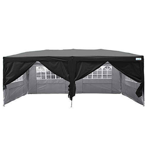 Best C&ing Tents | Quictent Silvox Waterproof 20x10 EZ Pop Up Canopy Commercial Gazebo Party Tent Black Portable Style Removable Sides With Roller ...  sc 1 st  Pinterest : 20x10 tent - memphite.com