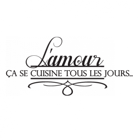 stickers amour en cuisine histoires humour et citations pinterest en cuisine stickers et. Black Bedroom Furniture Sets. Home Design Ideas