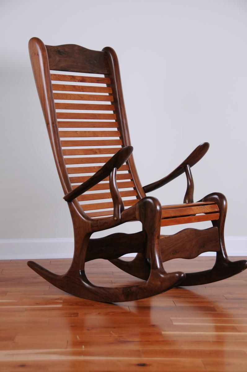 Custom Made Sculpted Rocking Chair B Virginia Mountain Woodworks Llc Wooden Rocking Chairs Rocking Chair Plans Antique Rocking Chairs