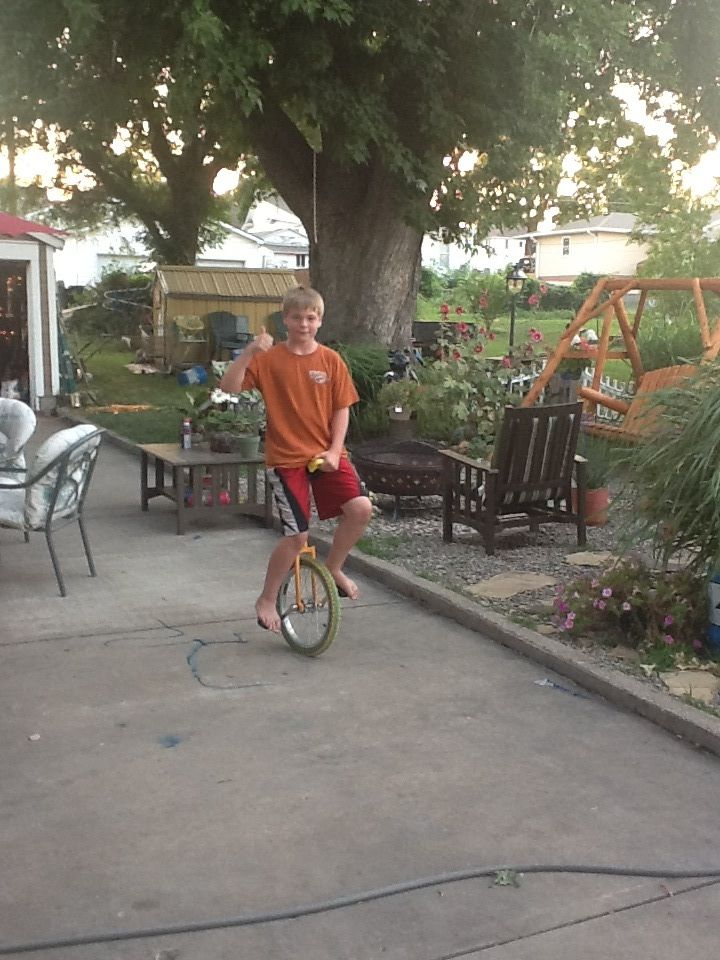 Learned How To Ride A Unicycle By Brody Bindle Unicycle Riding Bicycle