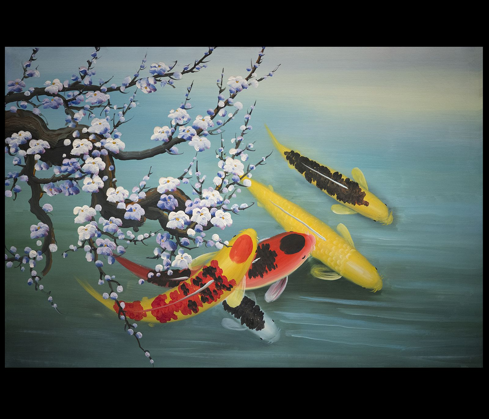 Canvas Prints Modern Wall Art D Cor Koi Fish Paintings