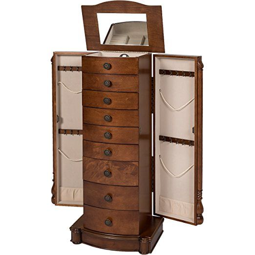 Best Choice Products Armoire Jewelry Cabinet Box Storage Chest