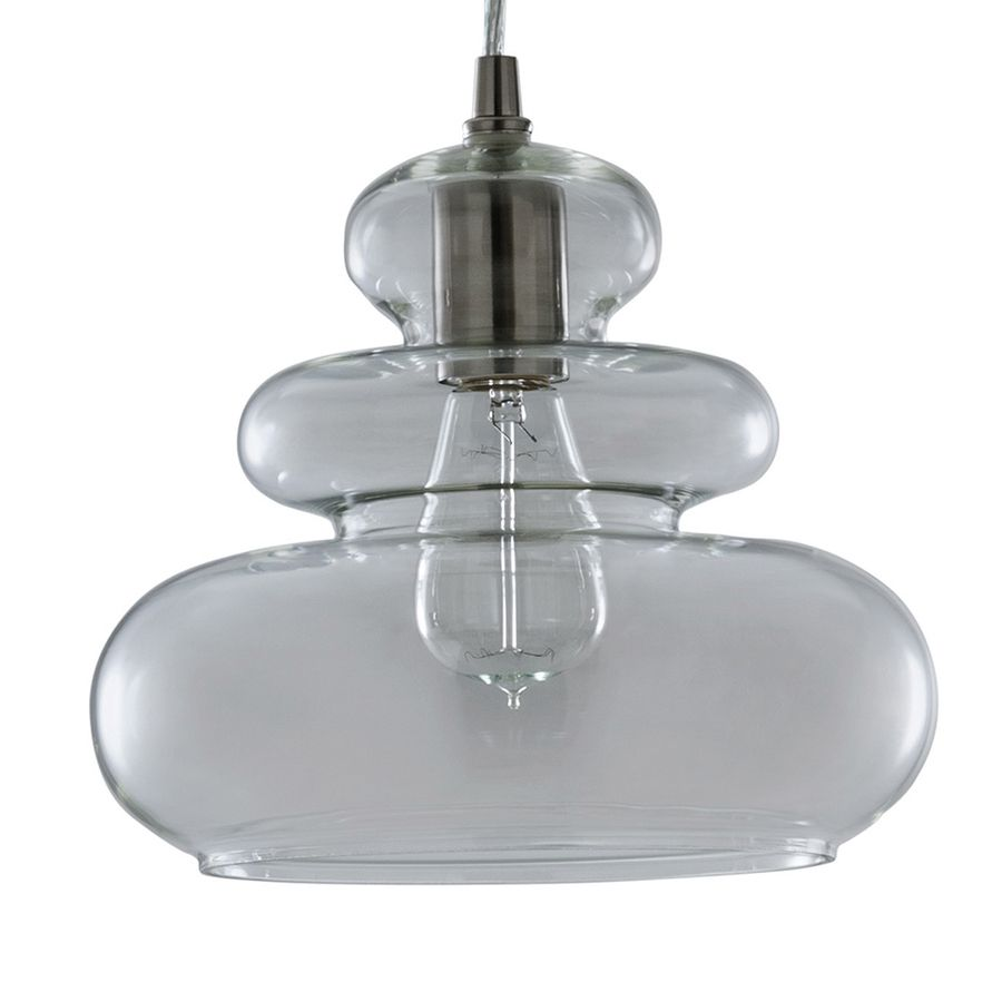 Allen roth in brushed nickel art deco mini clear glass