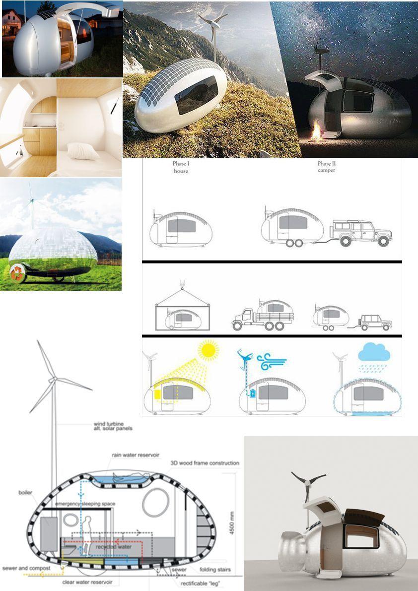 ECOCAPSULE by NICE ARCHITECTS - Uma microcasa ecológica, compacta, que gera sua própria energia e pode ser levada para qualquer lugar do mundo!  http://nicearchitects.sk/en/ecocapsule