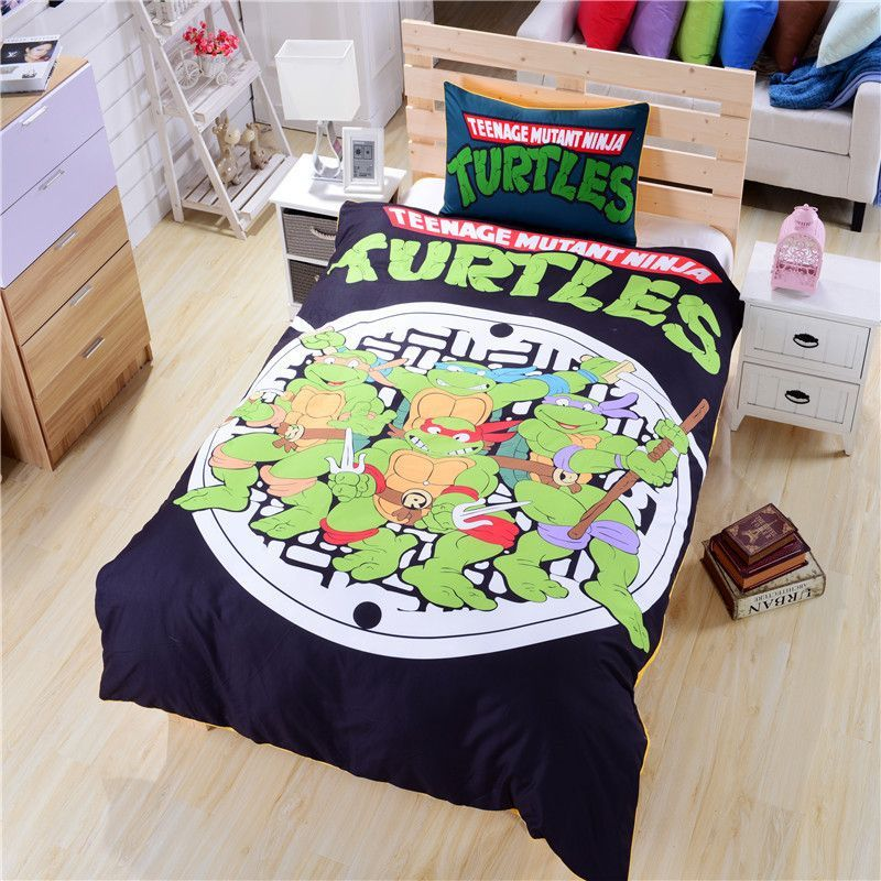 Teenage Mutant Ninja Turtles Bedding Set Tmnt Room Kids Bedding Sets Ninja Turtle Room