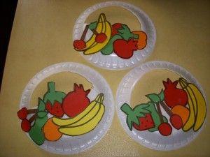 Anaokulu Meyve Sepeti Etkinliği Meyveler Vegetable Crafts
