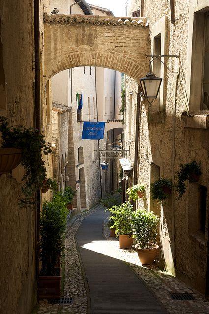 Walking the Streets of Spoleto, Umbria, Italy