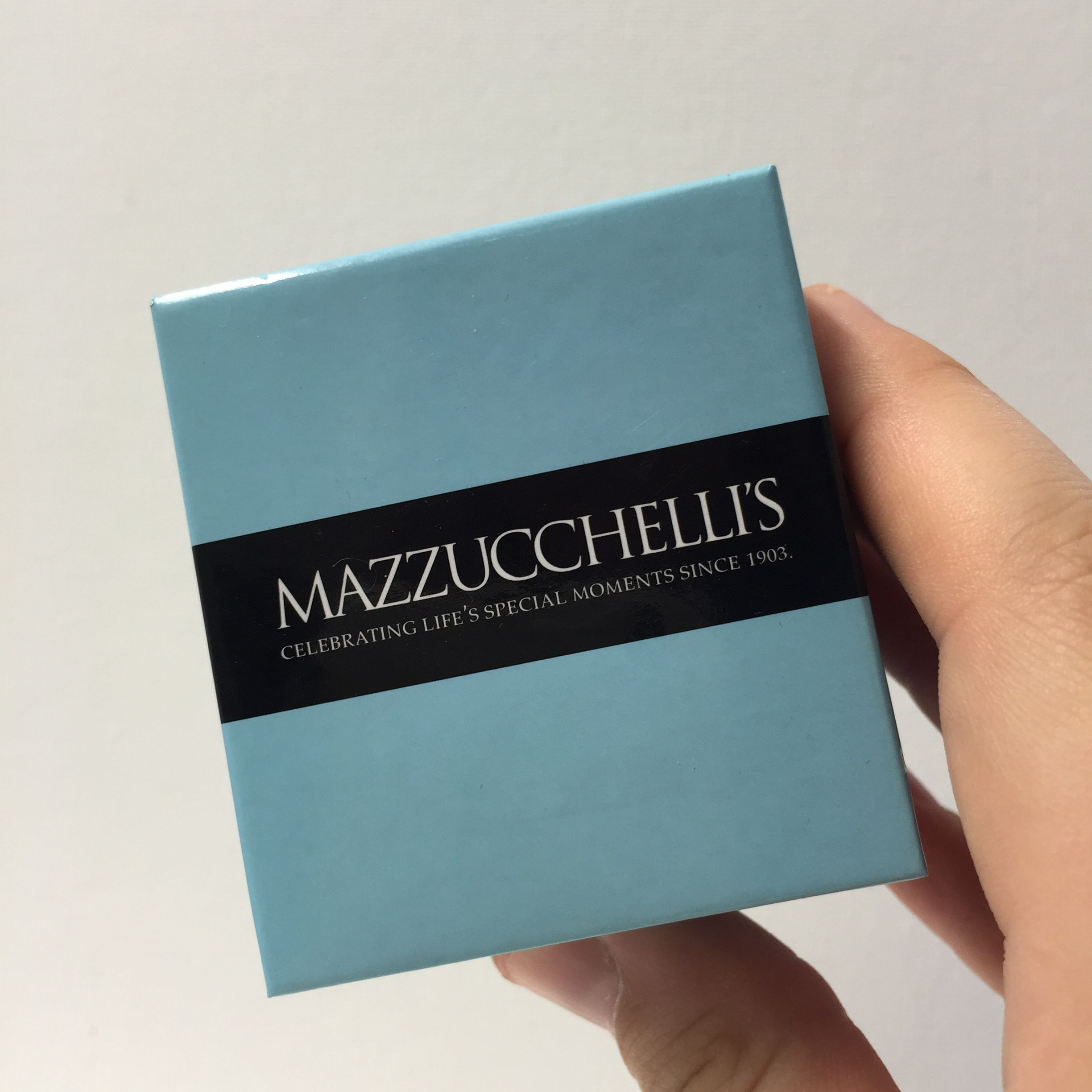 Who wouldn t love to receive a little blue box from Mazzucchelli s