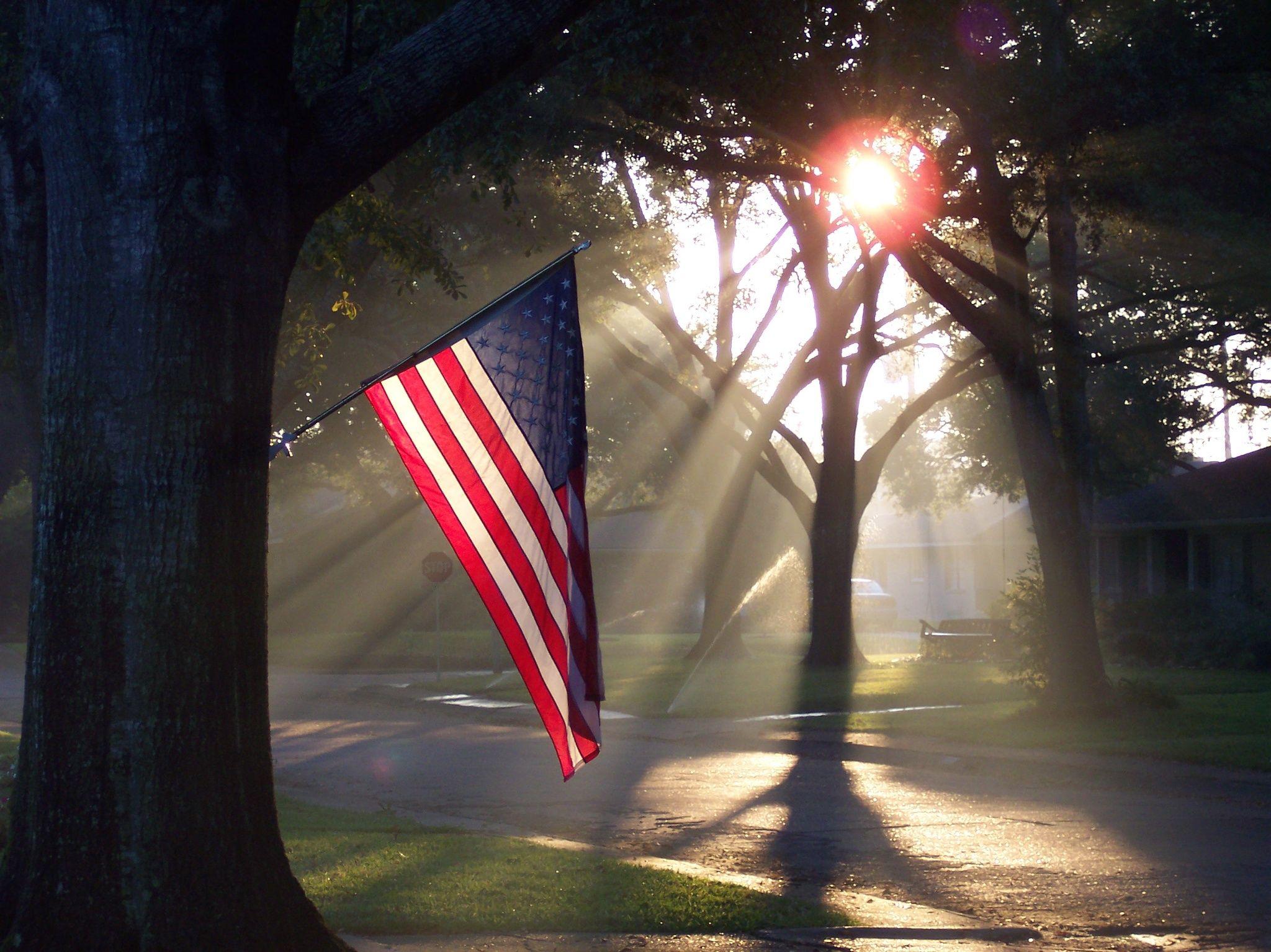 Morning Glory Patriotic Sunrise God Bless America America I Love America