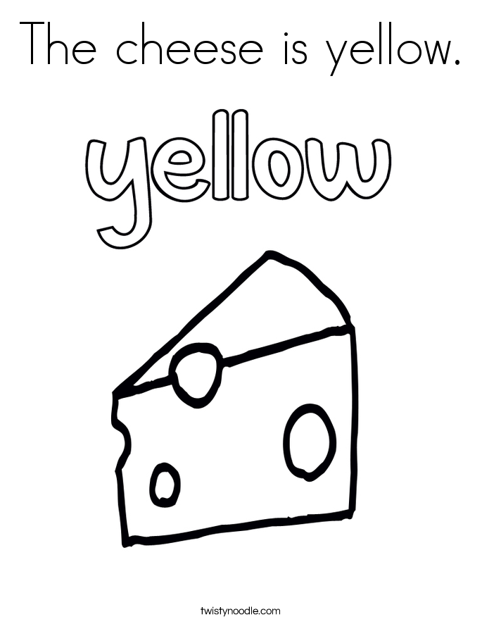 The Cheese Is Yellow Coloring Page Png 685 886 Pixels Renkler