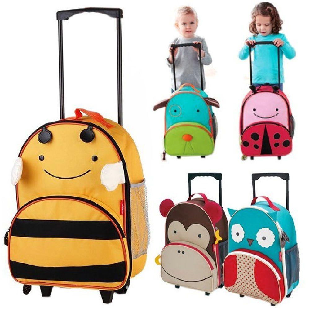 Details About Kids Trolley Cartoon School Bag Hardside Travel Suitcase Rolling Luggage School Bags With Wheels School Bags School Bags For Kids