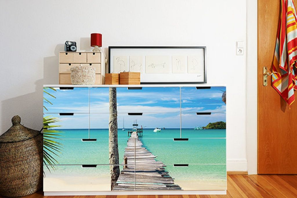 Ikea nordli dresser hack beach theme BEAUTY Pinterest Ikea