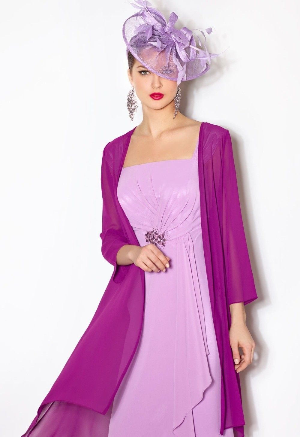 Wedding dress and jacket for guest  Click to Buy ucuc Modest Chiffon Mother of the Bride Dresses with