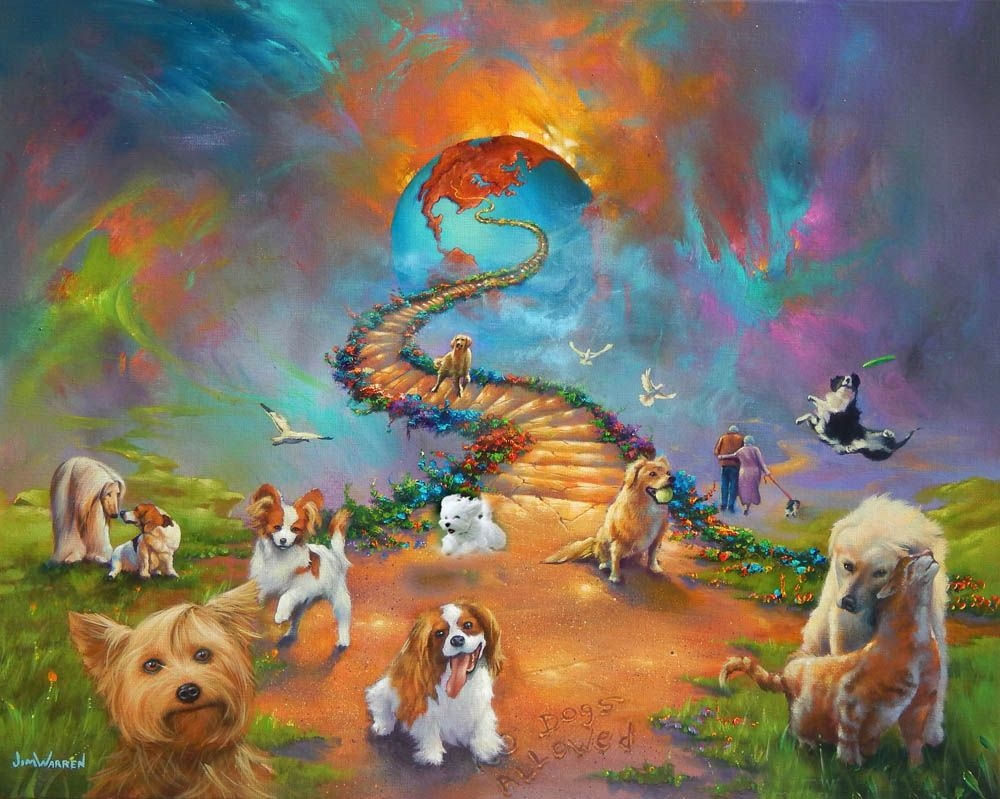All Dogs Go To Heaven 4 Jimwarren Com Cross Paintings Dog Heaven Rainbow Bridge