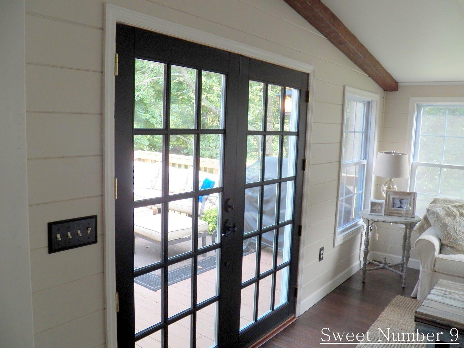Indoor Single French Doors Black Interior Doors For