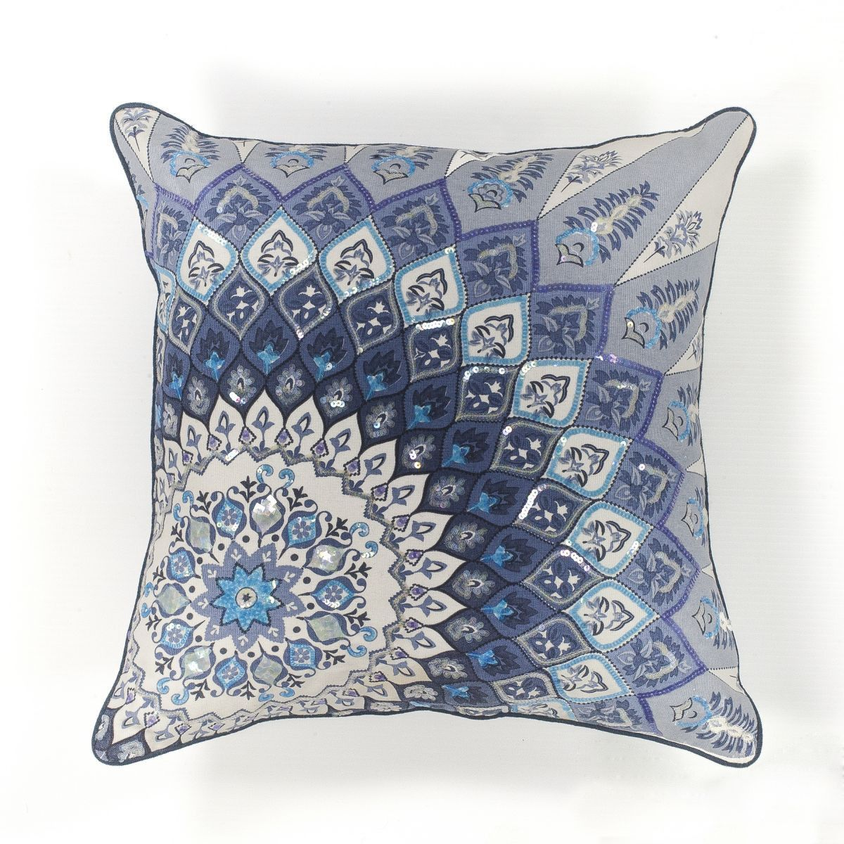 Kas Oriental Rugs Pillow L112 Blue White