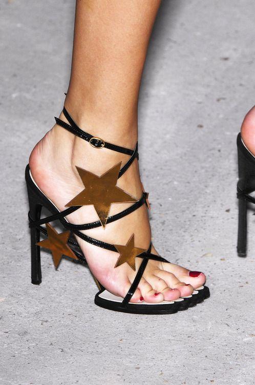 91e931dfe6d Yves Saint Laurent star sandals
