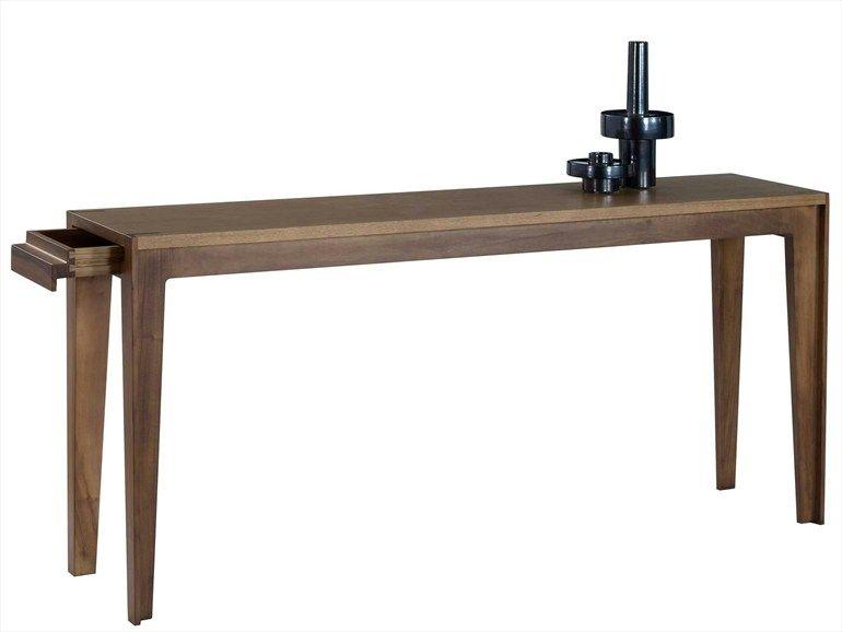 Walnut console table ASSEMBLAGE Les Contemporaines Collection by ROCHE BOBOIS | design Stephane Lebrun