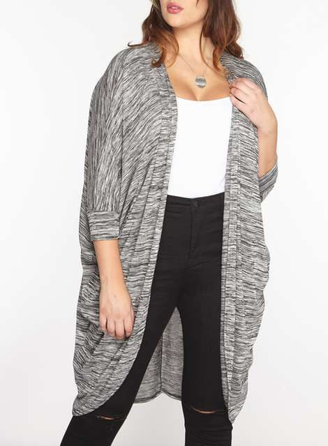 Plus Size Cocoon Cardigan Outfit | Moda | Pinterest
