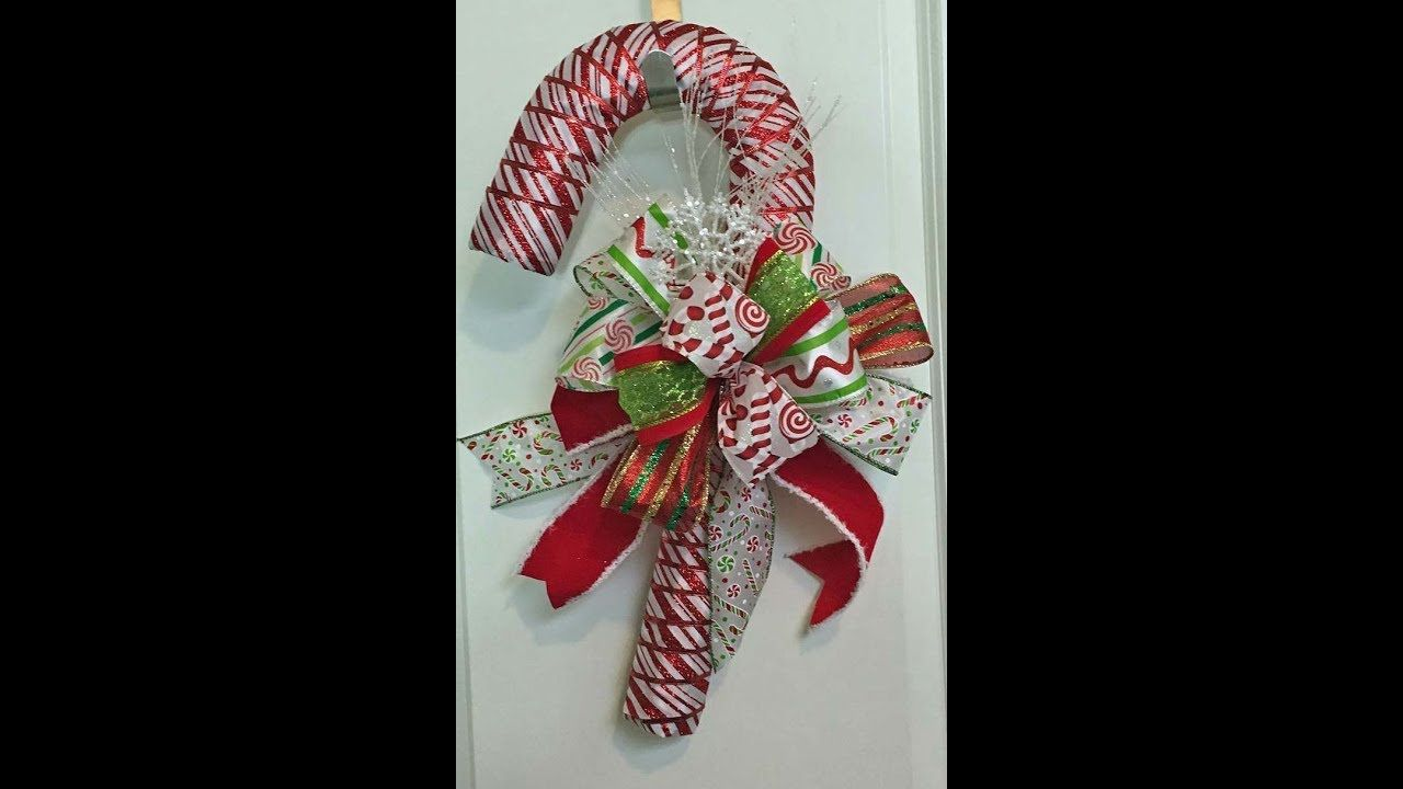 How To Make A Candy Cane With Ribbon And Dollar Tree Candy Cane
