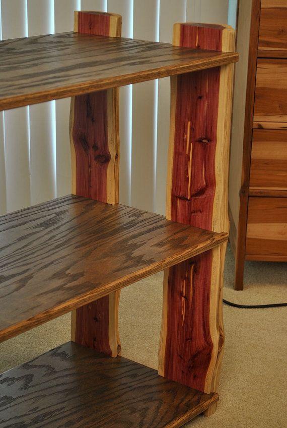 Cedar Log Bookshelf By Jlswoodwork On Etsy Bedroom Stuff Oak Plywood