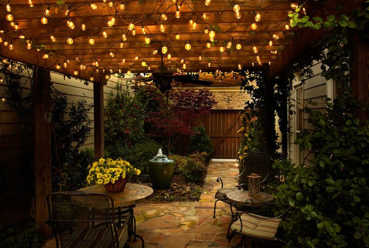 Bistro Lights Add A French Or Italian Ambiance To The Outdoors Create Your Own Outdoor Cafe Using Lighting