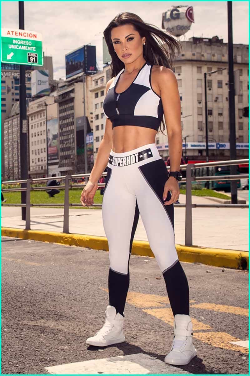c8dc190ad6 Super Hot Fit Fever Legging is a wide waist legging with SUPERHOT   stars  applique. Made in Supplex.