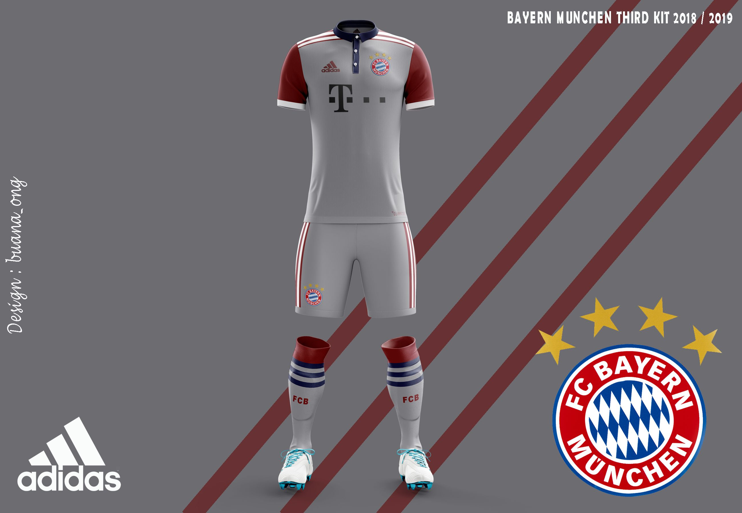 best sneakers 1fdd6 2bb4a Pin by Buana Ong on Bundesliga | Bayern, Kit, Concept