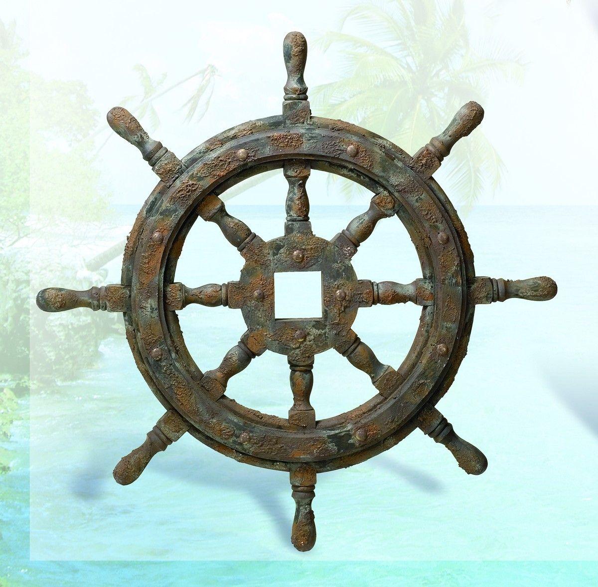 Nautical Ship Wheel Decor With Antique Finish 27 Ship Wheel Decor Wheel Decor Tropical Home Decor
