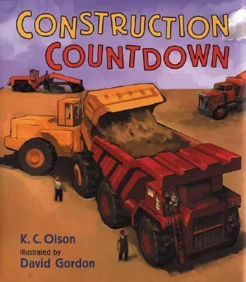 Ten mighty dump trucks rolling down the road. Nine earthmovers scraping up a load . . . Count down from ten to one with the busy construction trucks! Something wonderful is going on, and every kind of truck has an important job. But what are all those bulldozers and backhoes doing?