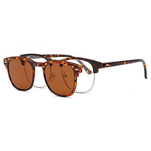 e17367c8c8b AEVOGUE Magnetic Clipon Polarized Sunglasses Mens Plastic Titanium TR90  Frame Unisex Prescription Glasses AE0510 Tortoise 52