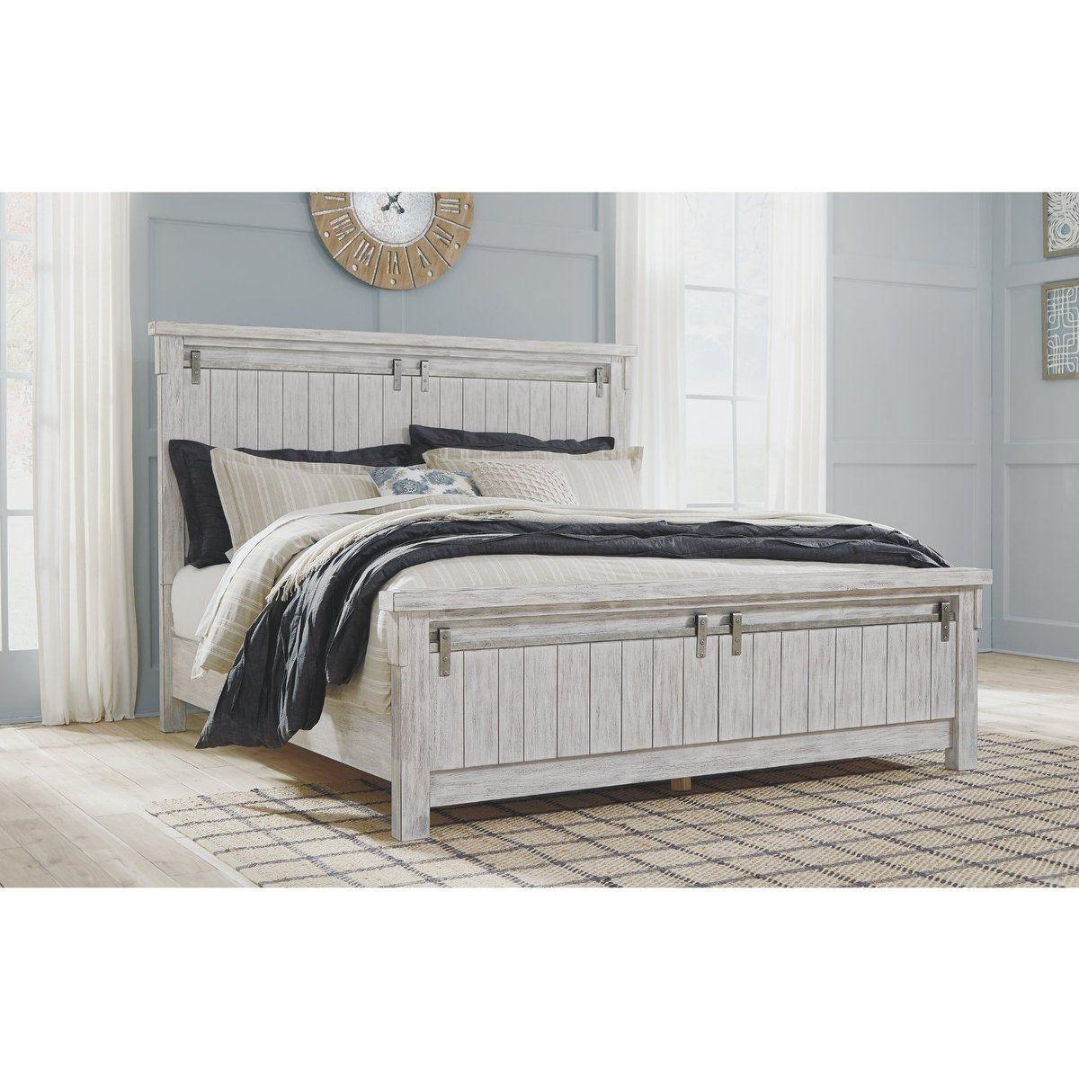 Brashland 3 Piece Queen Panel Bed White panel bedroom