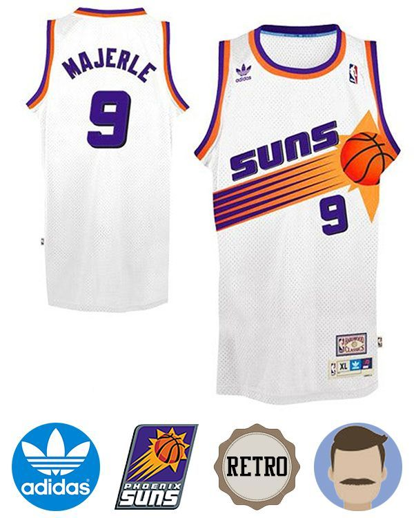 276b49ee9 Support your favorite team in comfort with the Men's Adidas Phoenix Suns #9 Dan  Majerle White Soul Swingman Throwback Jersey! This pro-quality licensed ...