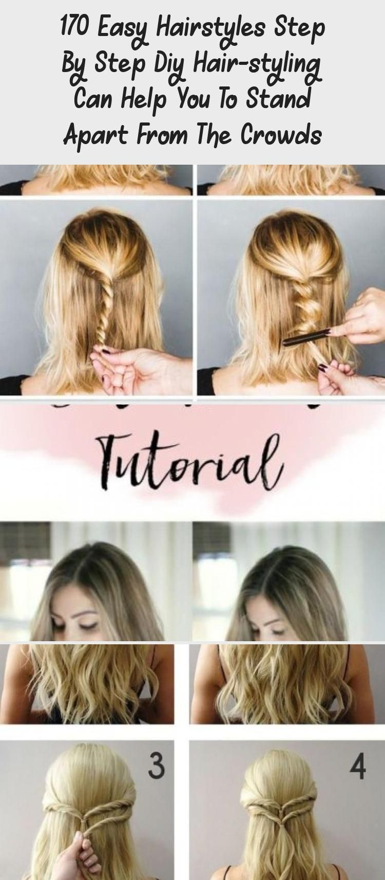 170 Easy Hairstyles Step By Step Diy Hair Styling Can Help You To Stand Apart From The Crowds Page 83 My Beauty In 2020 Easy Hairstyles Diy Hairstyles Hair Styles