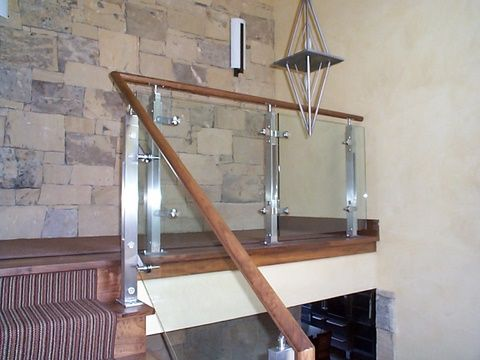 Glass Hand Rails For Stairs Glass Stair Railings For A Chic