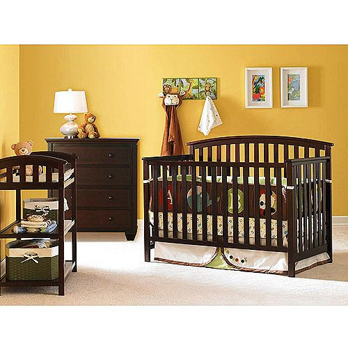 Graco - Freeport 4-1 Crib, Dresser, Changing Table & Mattress, Espr ...