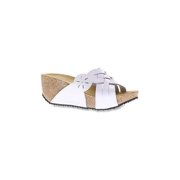 Spring Step Women's Skyview Sandals (127 CAD) ❤ liked on Polyvore featuring shoes, sandals, white, platform sandals, strappy platform sandals, white wedge sandals, white wedge shoes and wedge sandals