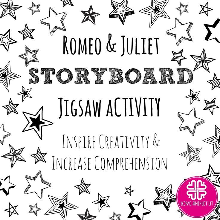 Romeo and Juliet Activity for a Visual Storyboard High school - visual storyboard