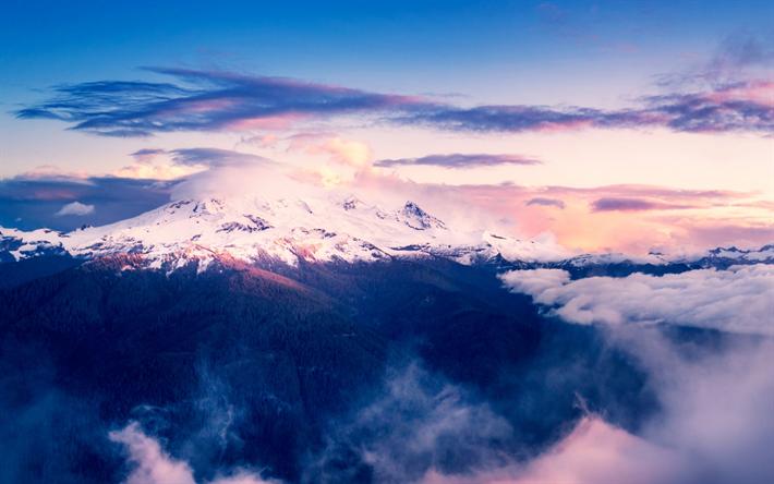 Download Wallpapers Mount Baker 4k Sunset Mountains Seattle Usa America Besthqwallpapers Com Paysage Coucher De Soleil Paysages Magnifiques